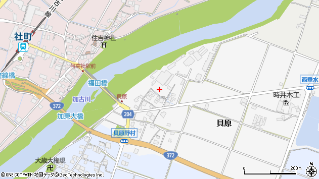 〒673-1453 兵庫県加東市貝原の地図