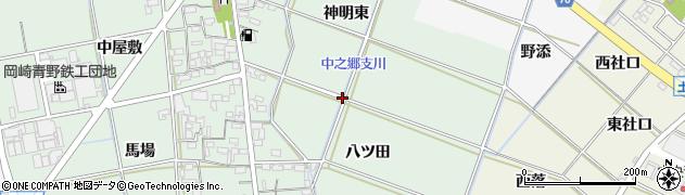 愛知県岡崎市上青野町周辺の地図