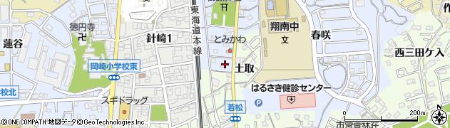 愛知県岡崎市針崎町(宮前)周辺の地図