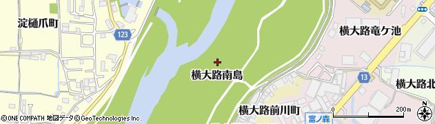 京都府京都市伏見区横大路南島周辺の地図