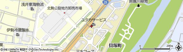 三重県四日市市貝塚町周辺の地図