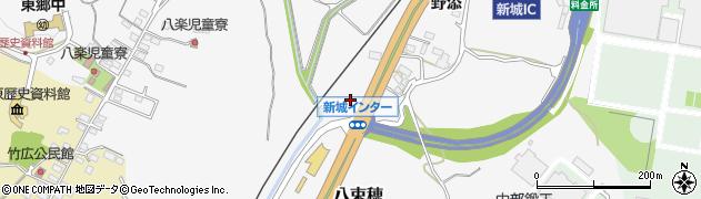 愛知県新城市八束穂(細ツブラ)周辺の地図