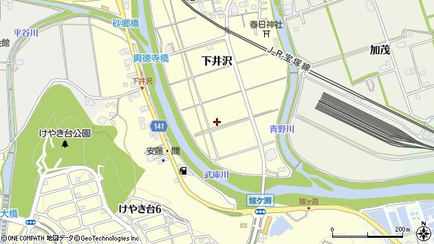 〒669-1315 兵庫県三田市下井沢の地図