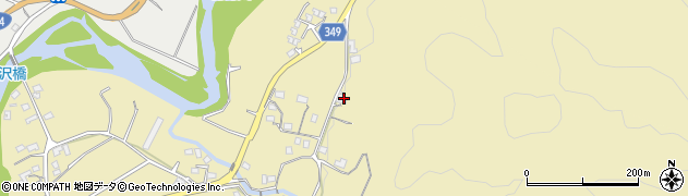 静岡県伊豆市田沢周辺の地図