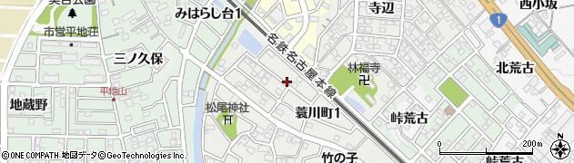 愛知県岡崎市蓑川町(後田)周辺の地図
