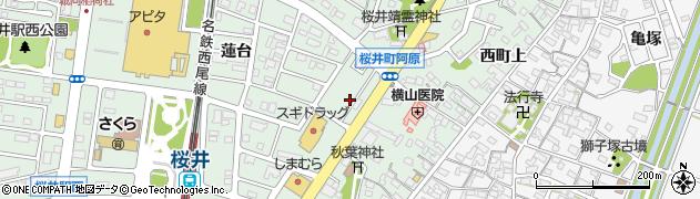 愛知県安城市桜井町(阿原)周辺の地図