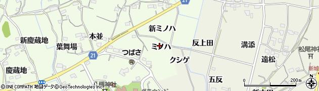 愛知県新城市矢部(ミノハ)周辺の地図