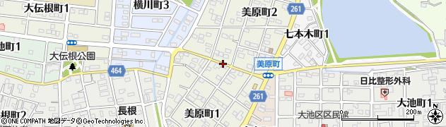 愛知県半田市美原町周辺の地図