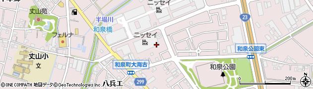 愛知県安城市和泉町(井ノ上)周辺の地図