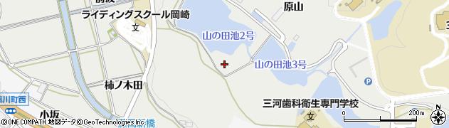 愛知県岡崎市岡町(原山)周辺の地図