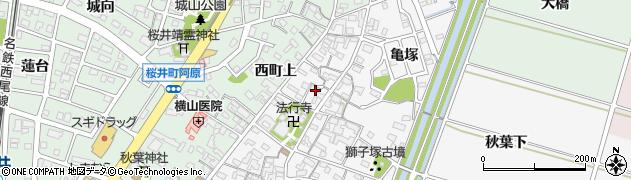 愛知県安城市東町(屋敷)周辺の地図