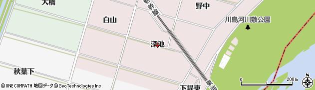愛知県安城市川島町(深池)周辺の地図