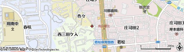 愛知県岡崎市柱町(羽根田)周辺の地図