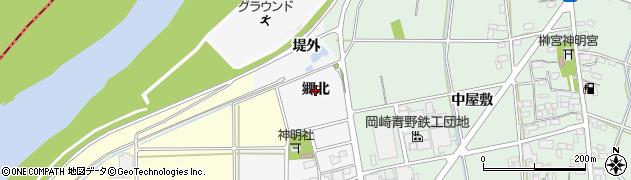 愛知県岡崎市高橋町(郷北)周辺の地図