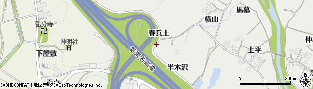 愛知県岡崎市樫山町(野中)周辺の地図
