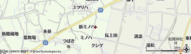 愛知県新城市矢部(新ミノハ)周辺の地図