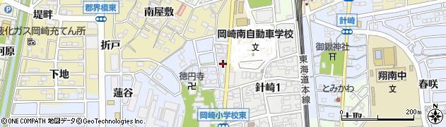 愛知県岡崎市針崎町(北門)周辺の地図
