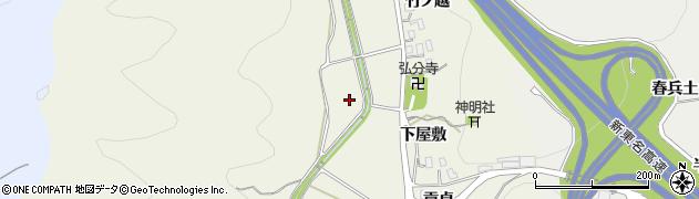 愛知県岡崎市下衣文町(越前田)周辺の地図