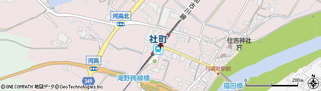 兵庫県加東市周辺の地図