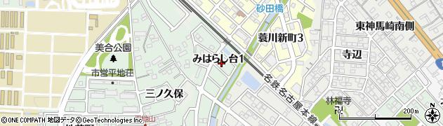 愛知県岡崎市蓑川町(川田)周辺の地図