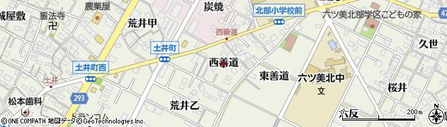 愛知県岡崎市土井町(西善道)周辺の地図