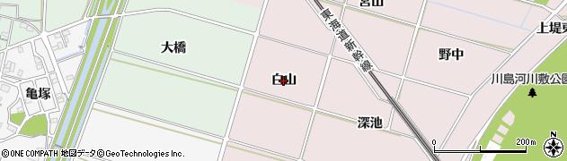 愛知県安城市川島町(白山)周辺の地図