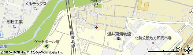 三重県四日市市内堀町周辺の地図
