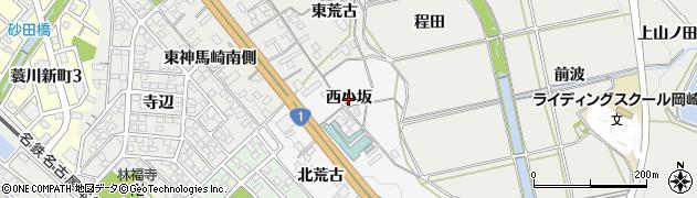 愛知県岡崎市藤川町(西小坂)周辺の地図