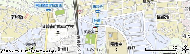 千鳥寿司針崎支店周辺の地図