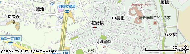 愛知県岡崎市美合町(老婆懐)周辺の地図