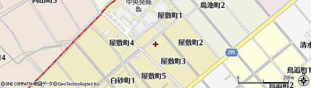 愛知県碧南市屋敷町周辺の地図