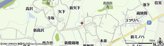 愛知県新城市矢部(京早稲)周辺の地図