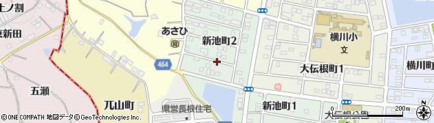 愛知県半田市新池町周辺の地図