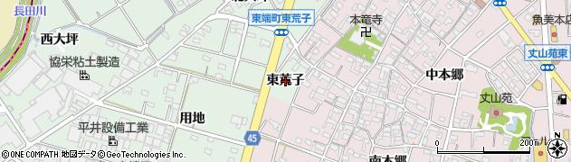 愛知県安城市東端町(東荒子)周辺の地図