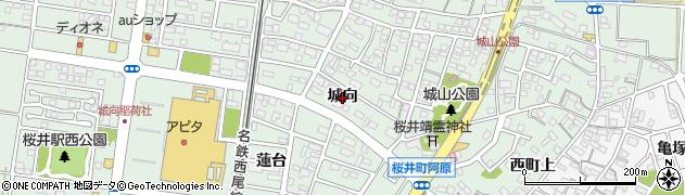 愛知県安城市桜井町(城向)周辺の地図