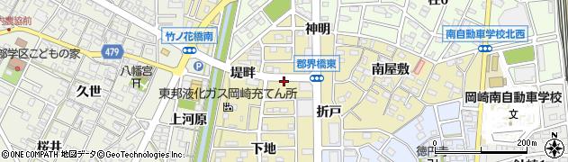 愛知県岡崎市柱町(権九)周辺の地図