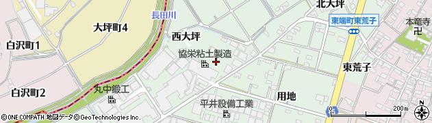 愛知県安城市東端町(中大坪)周辺の地図