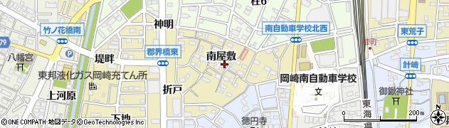 愛知県岡崎市柱町(南屋敷)周辺の地図