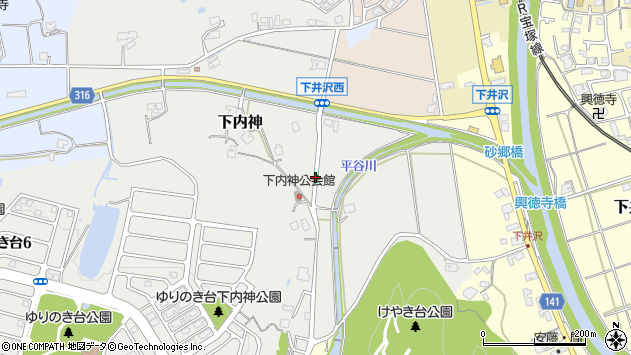 〒669-1333 兵庫県三田市下内神の地図