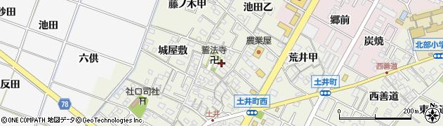 愛知県岡崎市土井町周辺の地図