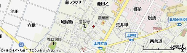 愛知県岡崎市土井町(池田甲)周辺の地図