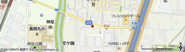 京都府長岡京市神足芝本5周辺の地図