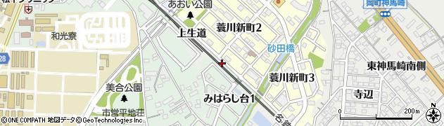 愛知県岡崎市蓑川町(清水田)周辺の地図