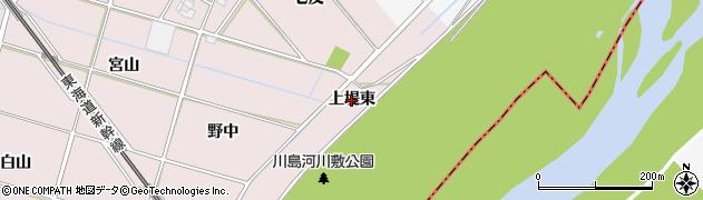 愛知県安城市川島町(上堤東)周辺の地図