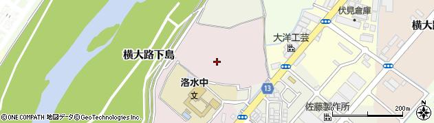 京都府京都市伏見区横大路龍ケ池周辺の地図