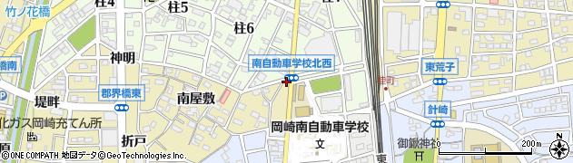 愛知県岡崎市柱町(林)周辺の地図