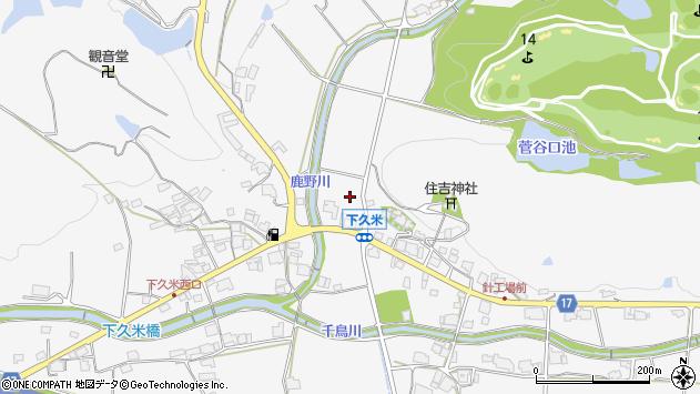 〒673-1415 兵庫県加東市下久米の地図
