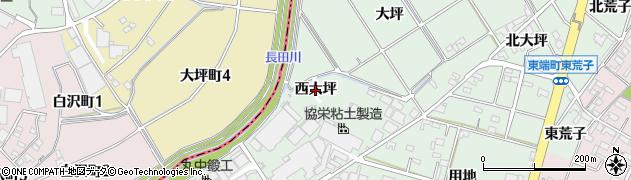 愛知県安城市東端町(西大坪)周辺の地図