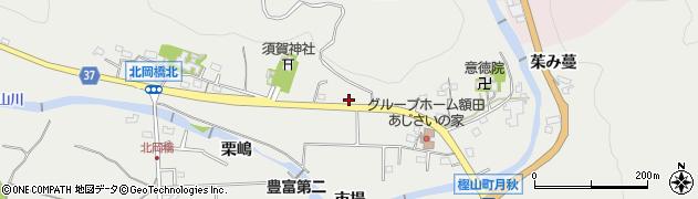 愛知県岡崎市樫山町(宮前)周辺の地図