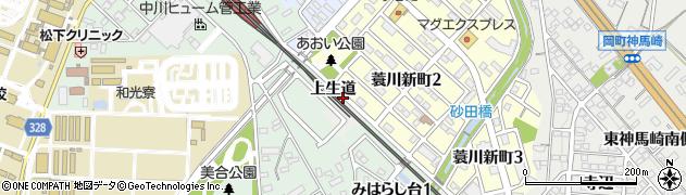 愛知県岡崎市蓑川町(荒古)周辺の地図